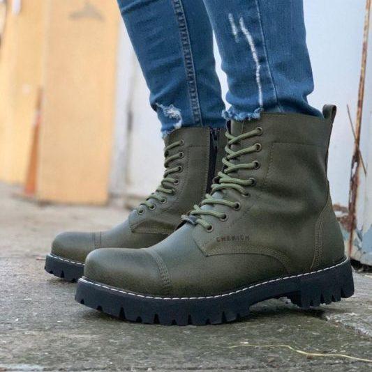 Chekich CH009 Lace Khaki Men's Boots