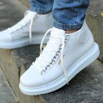 Chekich CH258 White Leather Sneakers