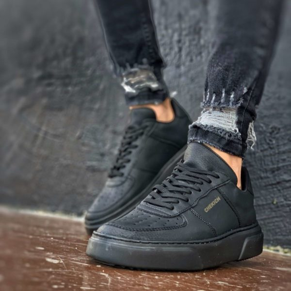Chekich All Black Flatline Sneakers