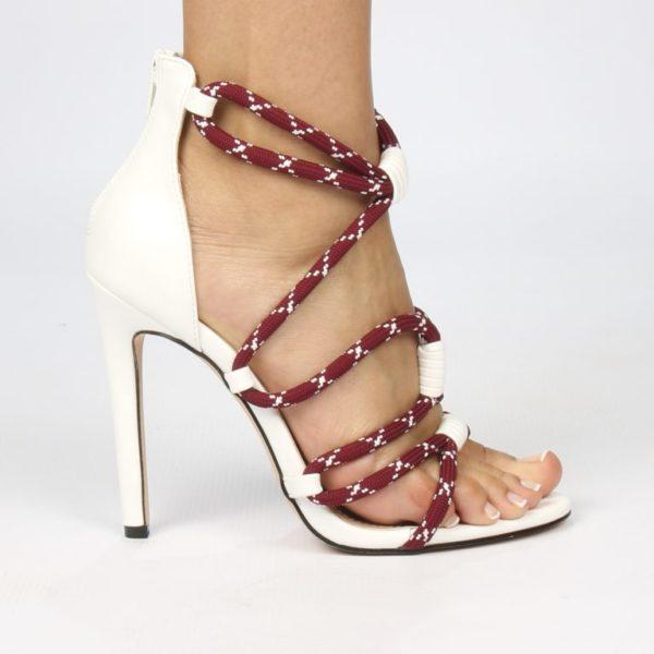 Miss Black Aruba White Heels