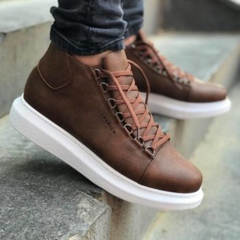 Chekich CH258 Brown Leather Sneakers